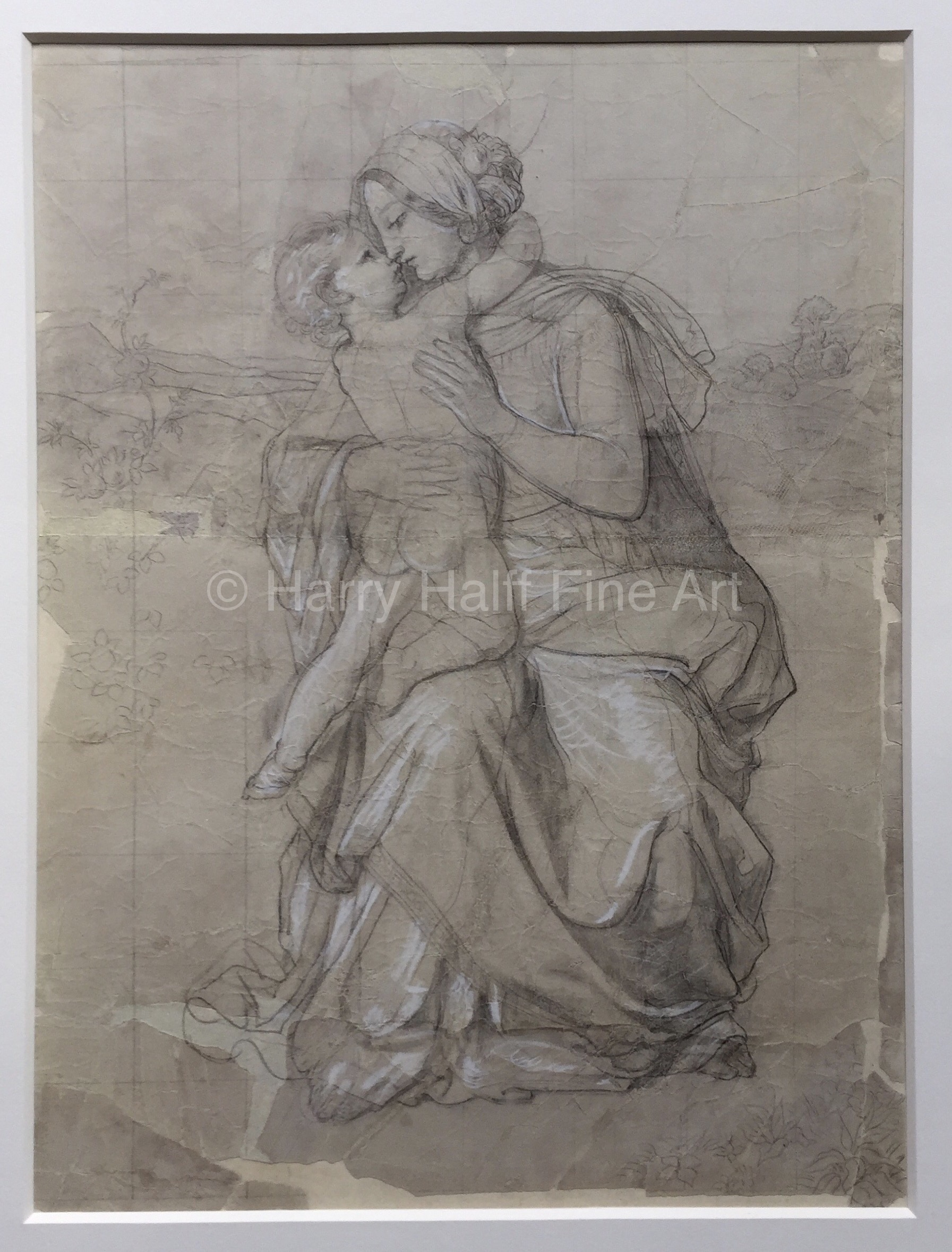 Richard Petri's sketched work titled, Madonna of the Roses