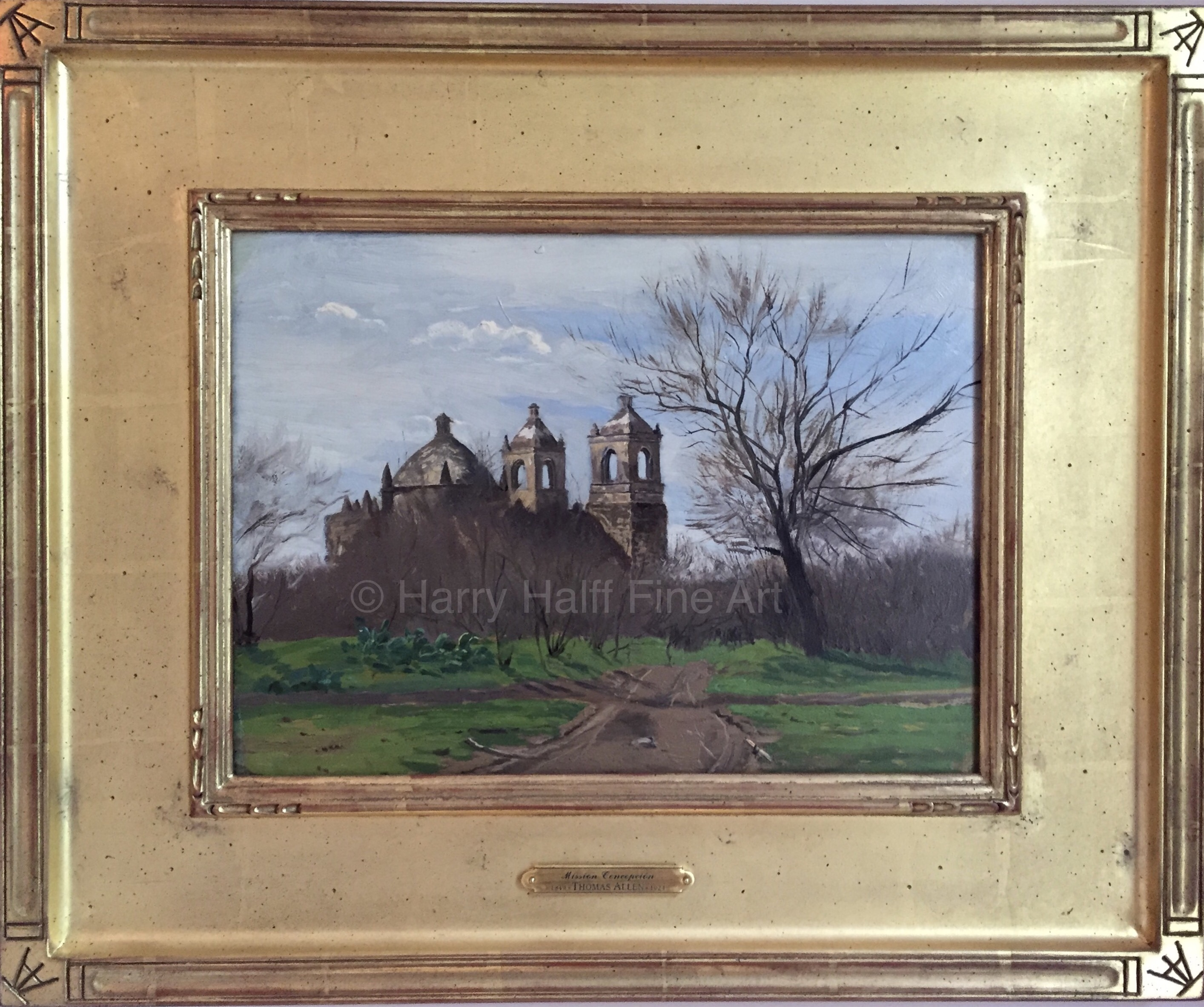 Thomas Allen's painting of Mission Concepcion in San Antonio, Texas from 1879.