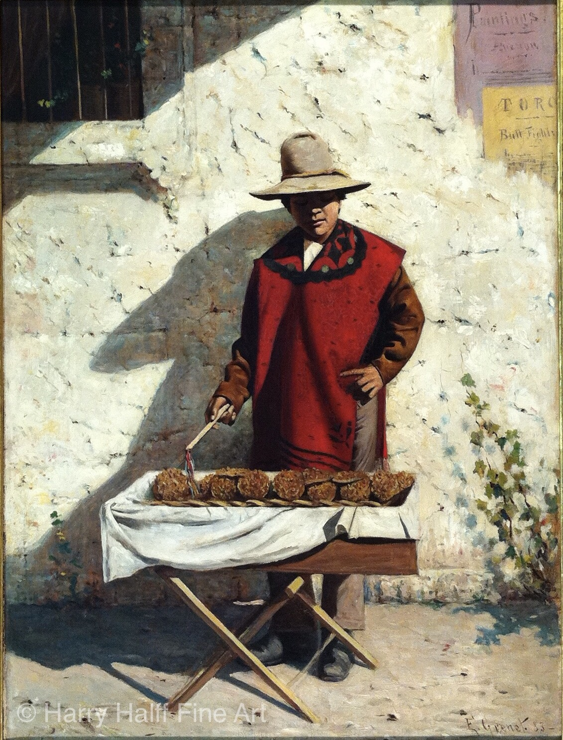 Painting by early Texas artist Edward Grenet